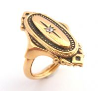 Vintage ' Kensington ' Victorian Revival Style Adjustable Fit Ring By Avon.